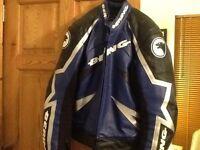 New Bering leather motorbike jacket size L....XL