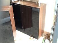 Black gloss kitchen wall cabinets