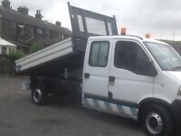 2004 mVAUXHALL MOVANO LWB DOUBLE CAB TIPPER