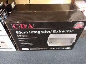 CDA extractor hood 60cm EIN60SI Silver