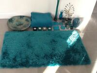Job lot of teal lounge accessories