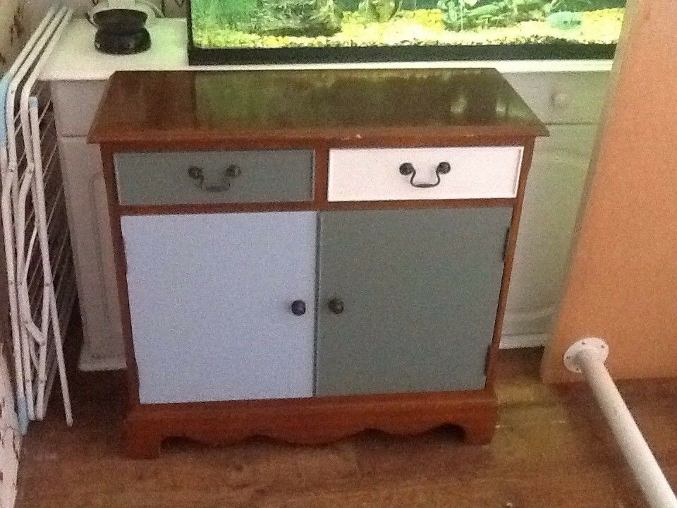 Beautiful small wooden sideboard