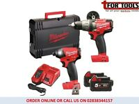 Milwaukee M18FPP2A-502X Fuel 2 18v Brushless Twin Pack Percussion Drill & Fuel™ Impact Driver
