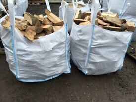 Hardwood Dry Seasoned Firewood Logs and FREE KINDLING