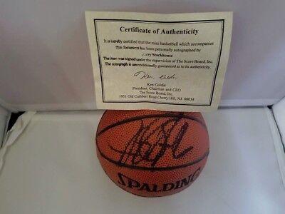 Autographed Spalding Mini Nba Basketball (Jerry Stackhouse Signed Autographed Spalding Mini NBA Basketball Score Board)