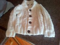 lovely chunky knitted cardigan little rebel 12-18 mths post is included in price