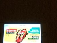 Rolling Stones 22 May London Stadium -one ticket standing