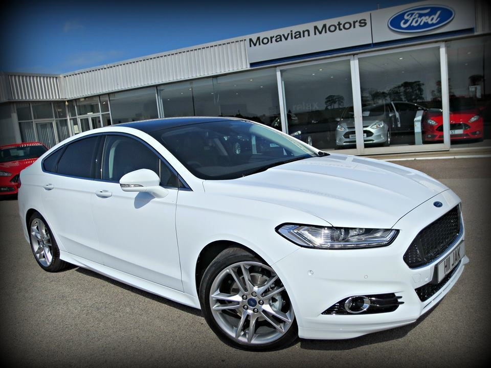 ford mondeo 2 0 tdci 180ps titanium 5dr powershift frozen white 2015 in buckie moray. Black Bedroom Furniture Sets. Home Design Ideas