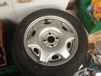 Vauxhall corsa Tigra wheel 185 55 r15 with new tyre