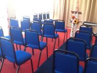 CHURCH HALL 30 - 40 SEATER TO RENT IN EDMONTON ON SOLE OR SHARED USE