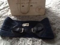 All Saints Navy Waist belt