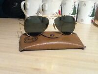 ray ban aviator style sunglasses with bausch and lomb lenses