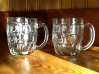 2 dozen glass beer steins
