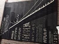 New York Rug 120cm X 160cm - Black & White