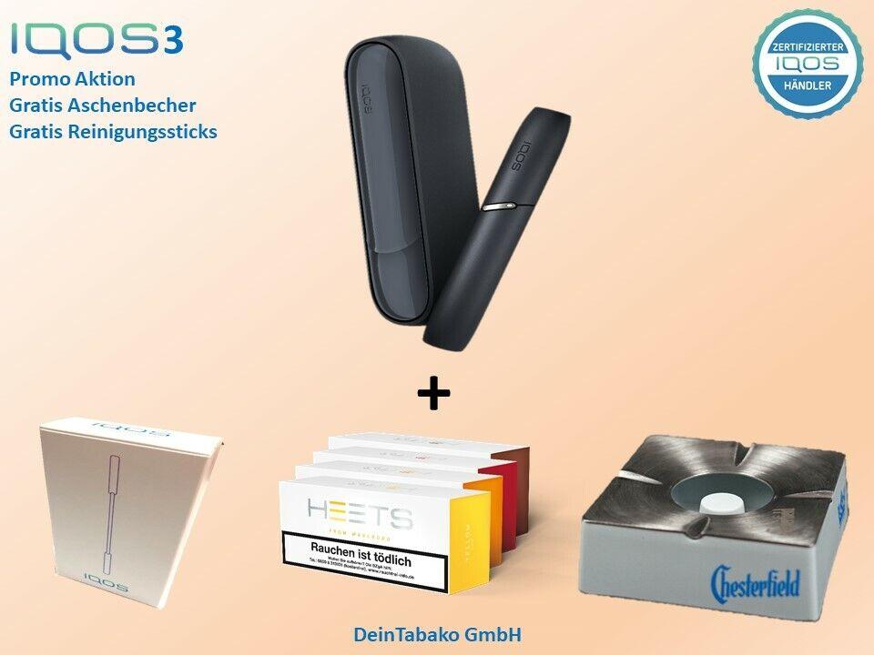 IQOS 3.0 / Starter Kit Wei Oder Grau 100 Heets Aschenbecher Und Sticks - 69,95 €