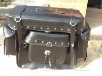Leather tail pack motorcycle