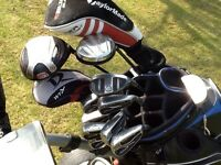 Golf clubs electric trolley and bag