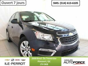 2015 CHEVROLET CRUZE LT, TURBO, BLUETOOTH, DEMARREUR