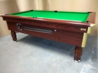 Mayfair 7x4 Slated Bed Ex Pub Pool Table - Coin Op. New Recover & Accessories - Free Local Delivery