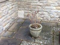 Stone garden planter