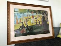 GEORGE SEURAT SUNDAY AFTERNOON ART FRAMED PRINT PICTURE