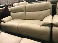 High retail cream leather suite