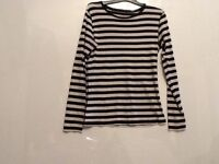 Ladies top by atmosphere, basic 1959, size 14, colour black/white