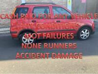 TOP MONEY PAID FOR UNWANTED SCRAP CARS VEHICLE NONE RUNNERS MOT FAILURES WALSALL