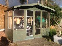 9ft X 7ft wooden summer house, chalet, garden shed, workshop