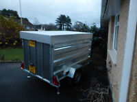 CLH trailer, 7ft x 4 x 4 with lockable lid with twin gas struts and rear ramp, rear & side lights