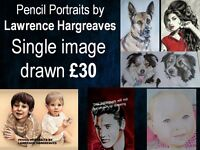 PENCIL PORTRAIT DRAWING ARTIST - PETS AND PEOPLE