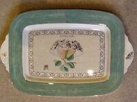 Wedgwood Sarah's Garden green rectangular serving plate