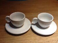 Espresso , Nespresso cups and saucers X 2