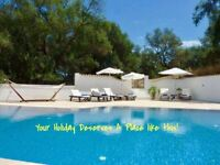 LATE DEAL: HOLIDAY VILLA WITH POOL IN CORFU ~ NOW £850 FOR 7NIGHTS FROM MONDAY 25th SEPT-MON 2nd OCT