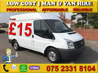 CHEAP MAN WITH VAN HIRE - HOUSE/FLAT/FURNITURE REMOVAL MOVING DELIVERY MOTORBIKE BIKE RECOVERY
