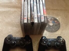 PlayStation 3, with games 2 controllers, accessories