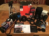 Sony Alpha SLT-A77 24.3MP Digital SLR Camera (incl. kit with lenses and extras)