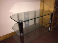 Glass & Silver TV Stand - Suit up to 40 inch TV max