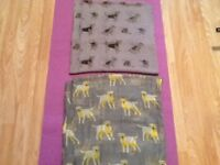 Brand new extra large shawls with dog motif