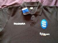 Men's black Diadora Birmingham City Tshirt, size large.