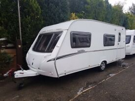 2007 Abbey Vogue 540 6 berth caravan FIXED BUNK BEDS, MOTOR MOVER, Awning, VGC BARGAIN !