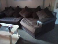 Chocolate suede settee
