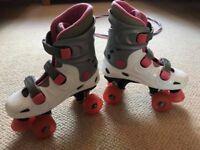 Adult Roller Boots Quad Roller Skates Rollerboots Size 4 - £10