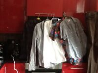 Designer branded shirts,jeans+Italian leather shoes,shirts Ted Baker,Timberland etc,med/L,loc deliv