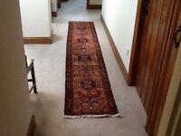 Hand made runner rug