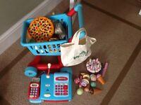 Children's kitchen and shopping sets