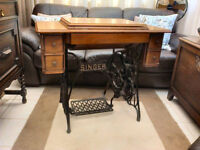 singer sewing treadle table