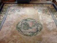 High quality chinese floor rug - BLUE /Beige
