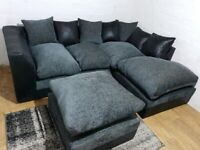 BRAND NEW BYRON CHENILLE CORNER OR 3+2 SEATER SOFA SET AVAILABLE IN STOCK ORDER NOW