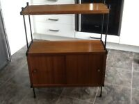 #NEW PRICE# Trendy Retro unit in wood with black legs/shelf supports. 60/70's